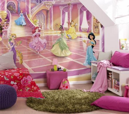 Children's room Photomural Disney Princess Party